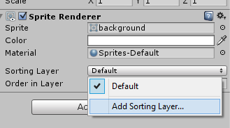 Sorting layer list