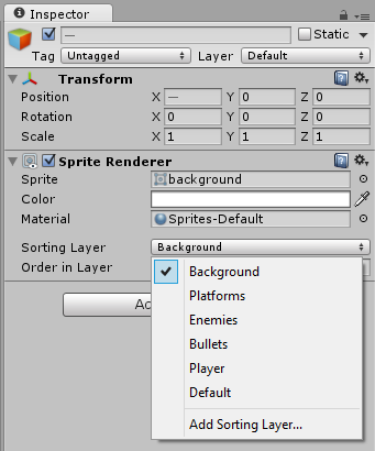 how to change layer order of sprites game maker studio